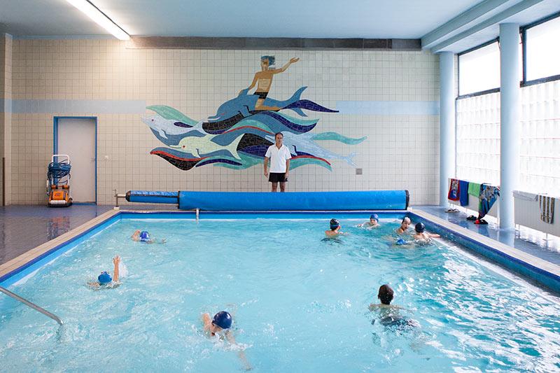 Schwimmbecken der Merz Schule
