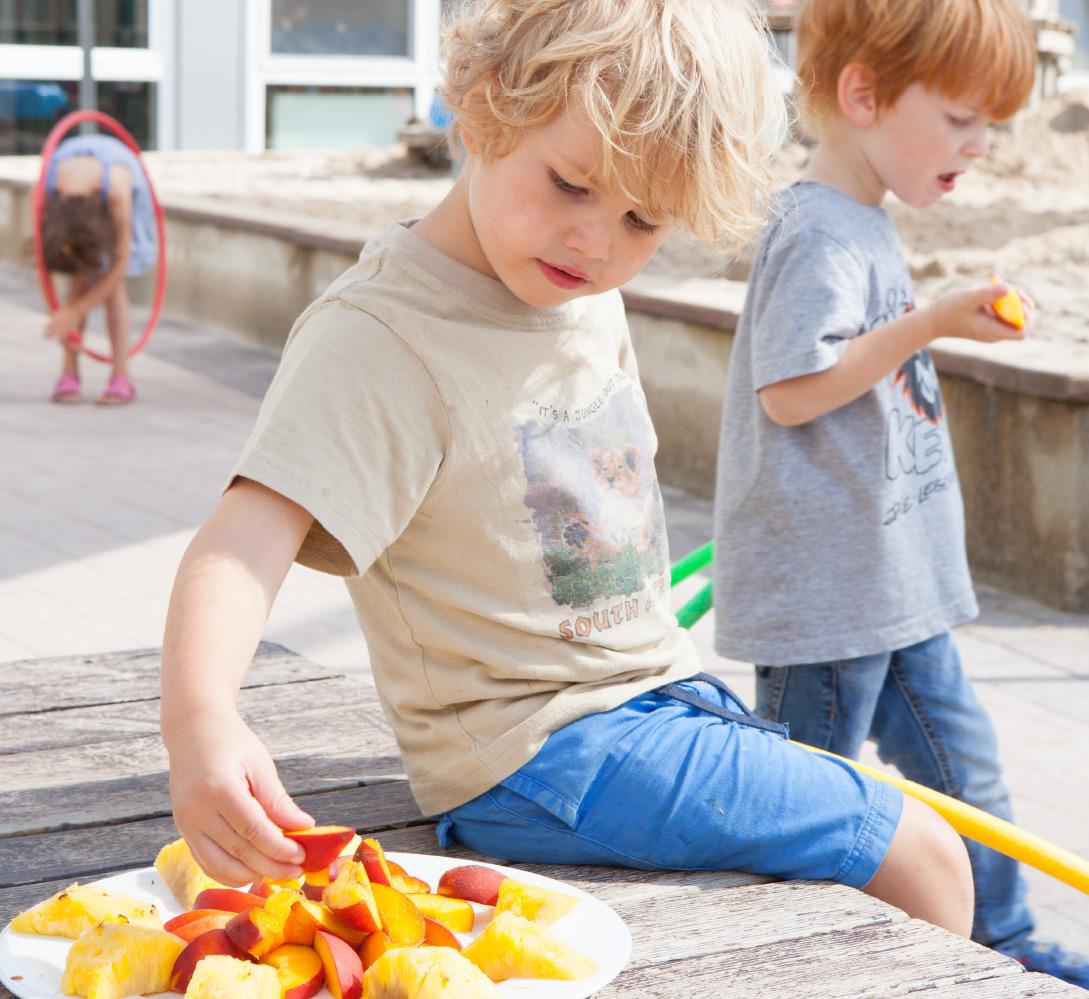 Gesunde Ernährung im Merz Schule Kindergarten